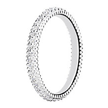 Chamilia Eternity sterling silver & cubic zirconia ring XS - Product number 3724921