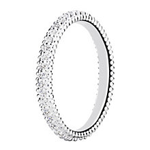 Chamilia Eternity sterling silver & cubic zirconia ring XL - Product number 3724948