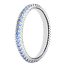 Chamilia Eternity sterling silver & cubic zirconia ring XS - Product number 3724956