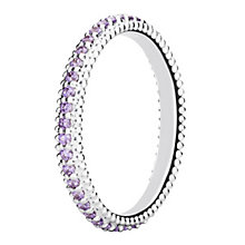 Chamilia Eternity sterling silver & cubic zirconia ring XS - Product number 3724999