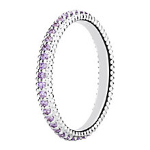 Chamilia Eternity sterling silver & cubic zirconia ring XL - Product number 3725014