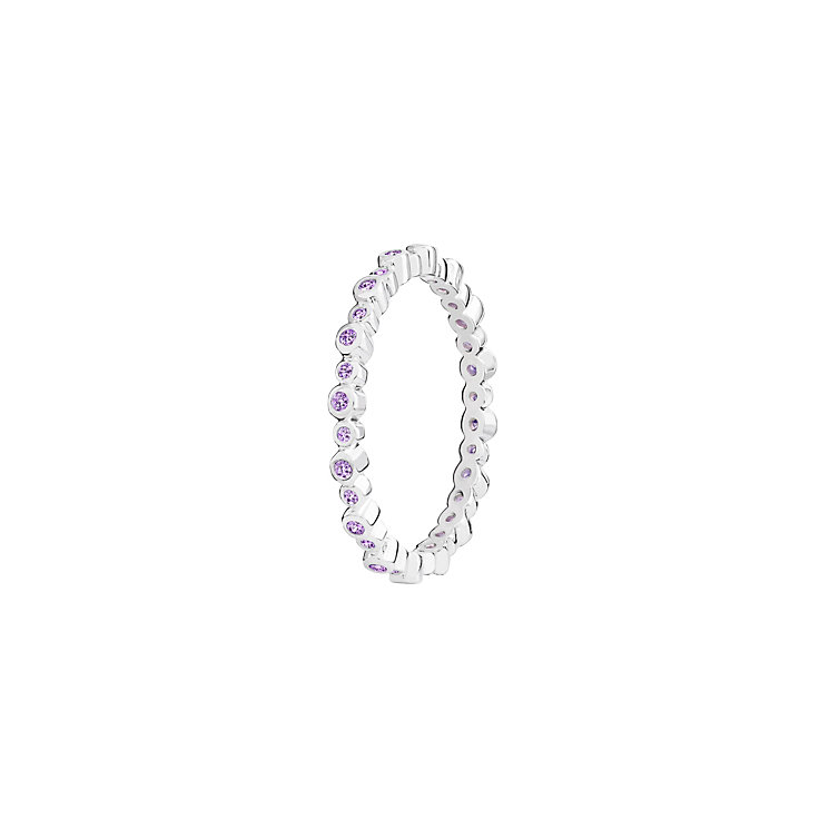 Chamilia Infinity sterling silver & cubic zirconia ring XS - Product number 3725308