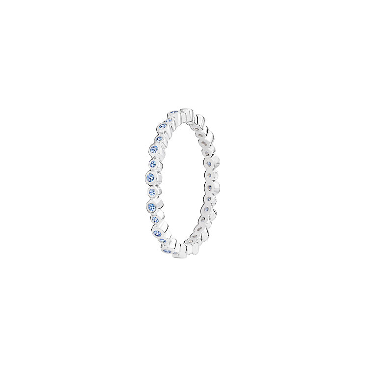 Chamilia Infinity sterling silver & cubic zirconia ring XS - Product number 3725758
