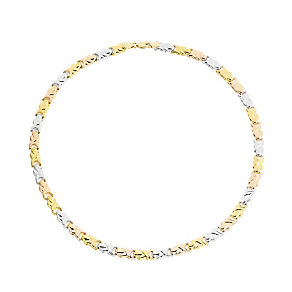 "9ct Gold, White Gold & Rose Gold 17"" Stampato Necklace - Product number 3727998"