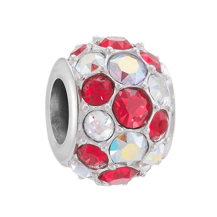 Chamilia Silver Diagonal Splendour Swarovski Crystal Bead - Product number 3728005