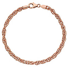 "9ct Rose Gold 7.5"" Singapore Bracelet - Product number 3728153"