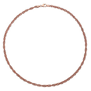 "9ct Rose Gold 18"" Singapore Necklace - Product number 3728374"