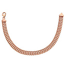 "9ct Rose Gold 7.5"" Figure Of 8 Link Bracelet - Product number 3728390"