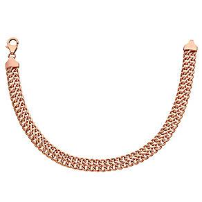 """9ct Rose Gold 7.5"""" Figure Of 8 Link Bracelet - Product number 3728390"""