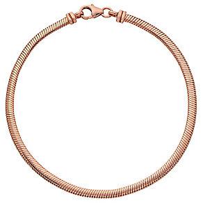 """9ct Rose Gold 7.5"""" Flat Snake Bracelet - Product number 3728404"""