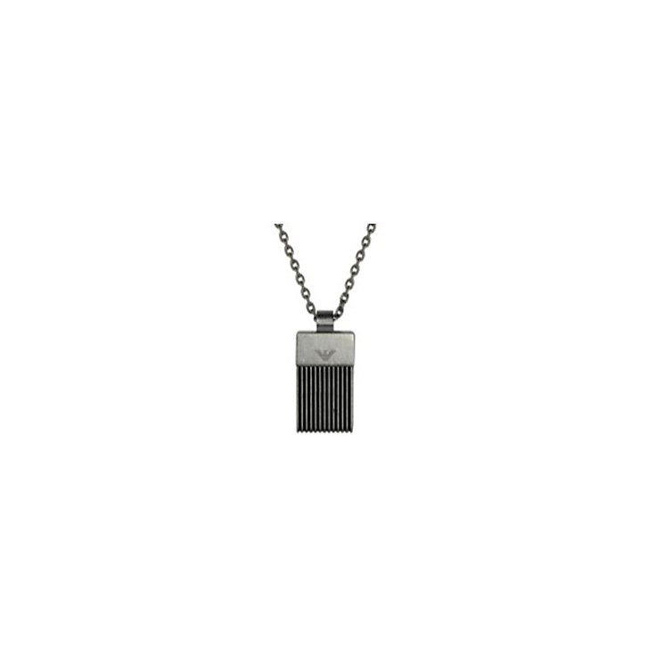 Emporio Armani Men's Stainless Steel Tag Necklace - Product number 3728862