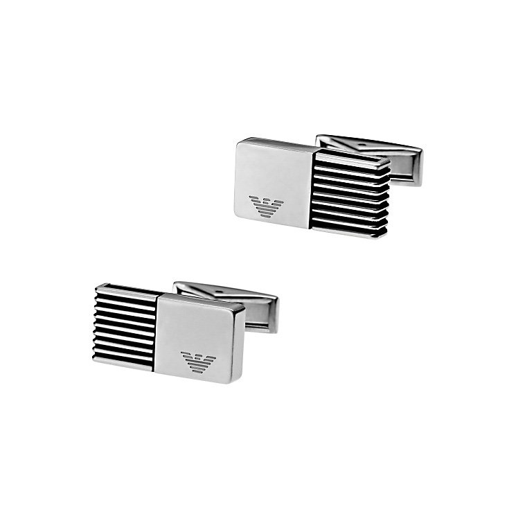 Emporio Armani stainless steel cuff links - Product number 3729621