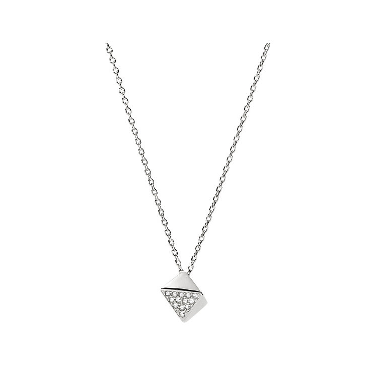 Fossil Glitz stainless steel stone set necklace - Product number 3729753