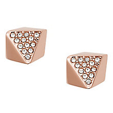 Fossil Glitz rose gold-plated stone set stud earrings - Product number 3729761
