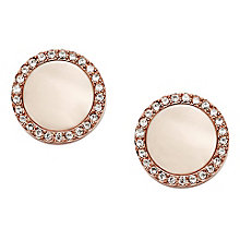 Fossil Classics rose gold-tone stud earrings - Product number 3729842