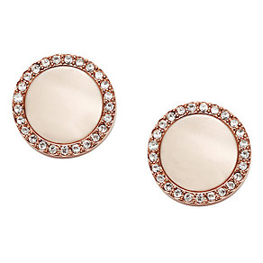 Fossil Classics rose gold-plated stud earrings - Product number 3729842