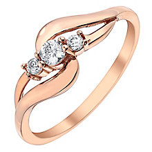 9ct Rose Gold Cubic Zirconia Set Fancy Ring - Product number 3731510