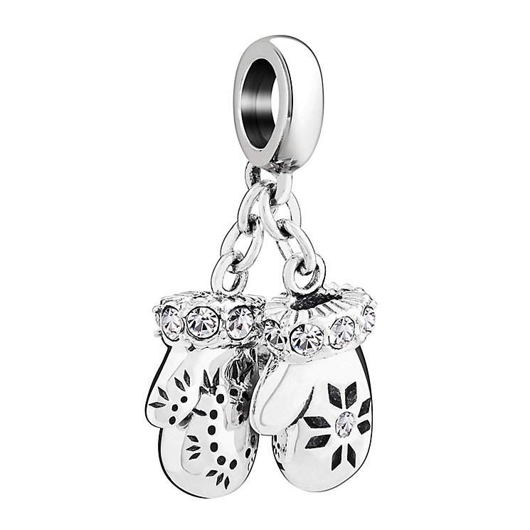 Chamilia Silver Mittens Swarovski Clear Crystal Bead - Product number 3731677