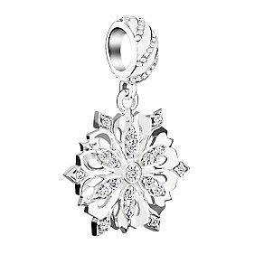 Chamilia Sterling Silver Snowflake Swarovski Zirconia Bead - Product number 3731839
