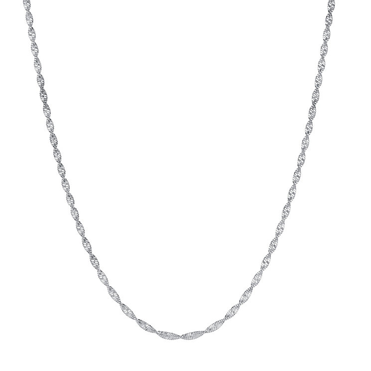 Sterling Silver Singapore Chain Necklace - Product number 3731847