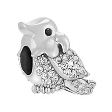 Chamilia Sterling Silver Cheeky Tiki Clear Crystal Bead - Product number 3731855