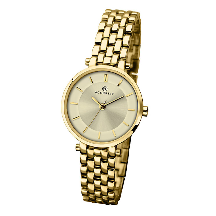 Accurist Ladies' Yellow Gold-Plated Bracelet Watch - Product number 3732010