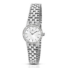 Accurist Ladies' White Dial Stainless Steel Bracelet Watch - Product number 3732142