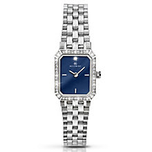 Accurist Ladies' Stainless Steel Blue Dial Bracelet Watch - Product number 3732150