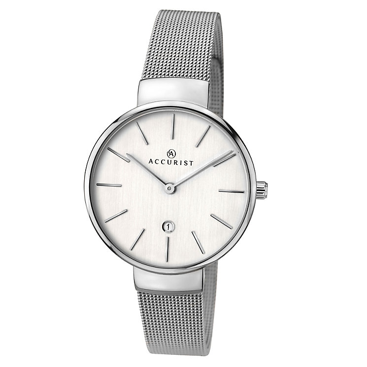 Accurist Ladies' Stainless Steel Mesh Bracelet Watch - Product number 3732193