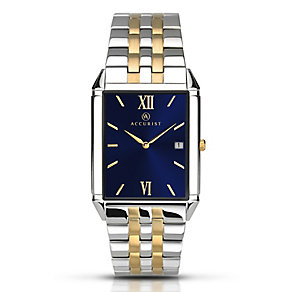 Accurist Men's Two Tone Stainless Steel Bracelet Watch - Product number 3732215