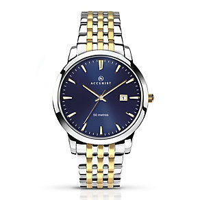 Accurist Men's Two Tone Stainless Steel Bracelet Watch - Product number 3732223