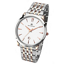 Accurist Men's Two Tone Stainless Steel Bracelet Watch - Product number 3732231