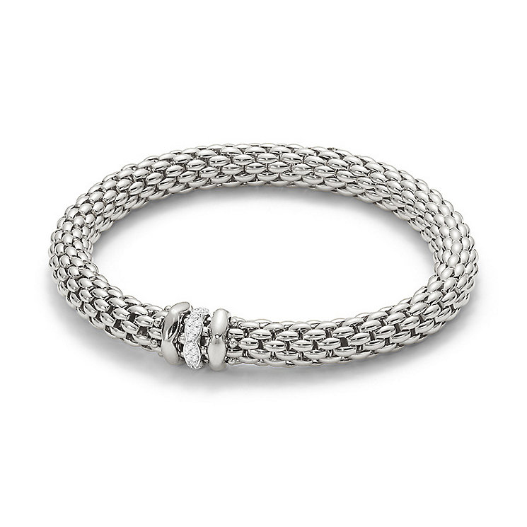 Fope Love Nest 18ct white gold diamond rondelle bracelet - Product number 3732274