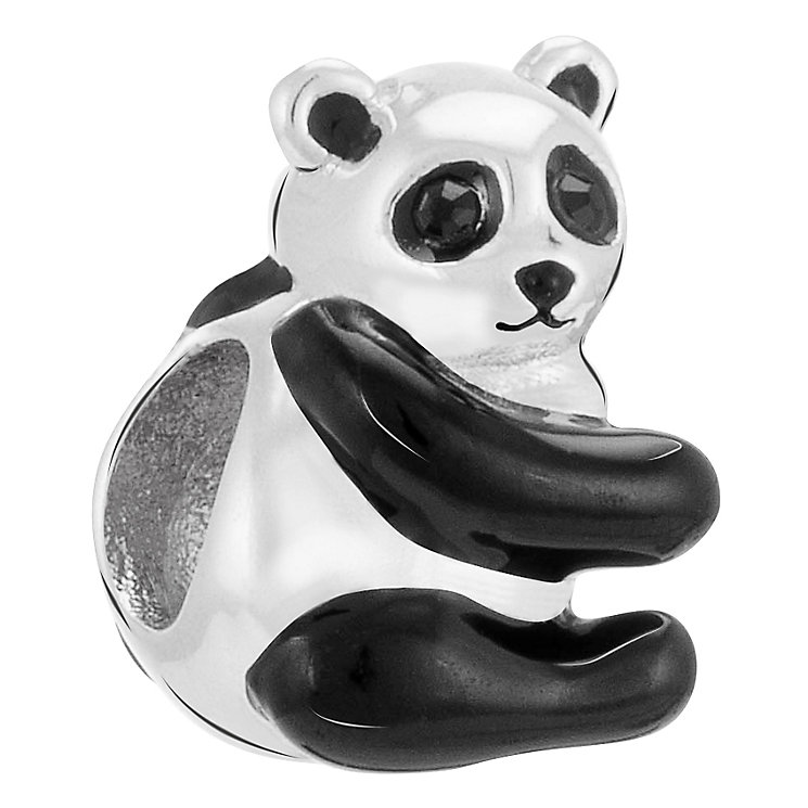 Chamilia Panda sterling silver & Jet Swarovski charm - Product number 3732355