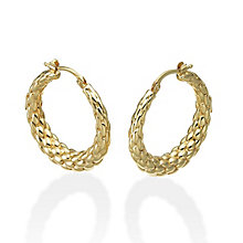 Fope Lovely Daisy 18ct gold creole earrings - Product number 3732460