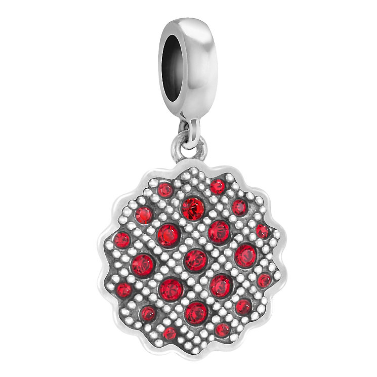 Chamilia Sweet Tart sterling silver Swarovski crystal charm - Product number 3732509