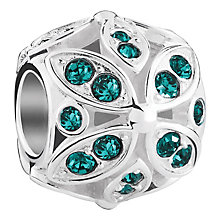 Chamilia Floral sterling silver & Swarovski crystal charm - Product number 3732517