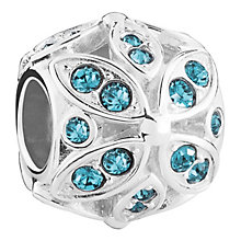 Chamilia Floral sterling silver & Swarovski crystal charm - Product number 3732533