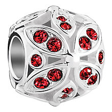 Chamilia Floral sterling silver & Swarovski crystal charm - Product number 3732541
