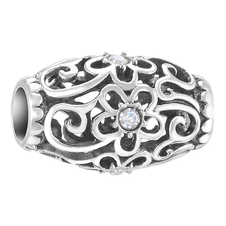 Chamilia Floral Filigree sterling silver & Swarovski charm - Product number 3732614