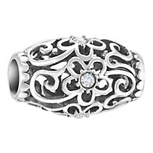 Chamilia Floral Filigree sterling silver & Swarovski charm - Product number 3732614
