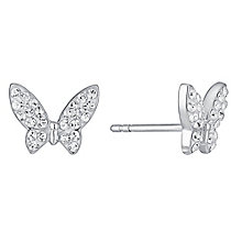 Evoke Rhodium-Plated Swarovski Crystal Stud Earrings - Product number 3732681