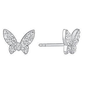 Evoke Rhodium-Plated Swarovski® Crystal Stud Earrings - Product number 3732681