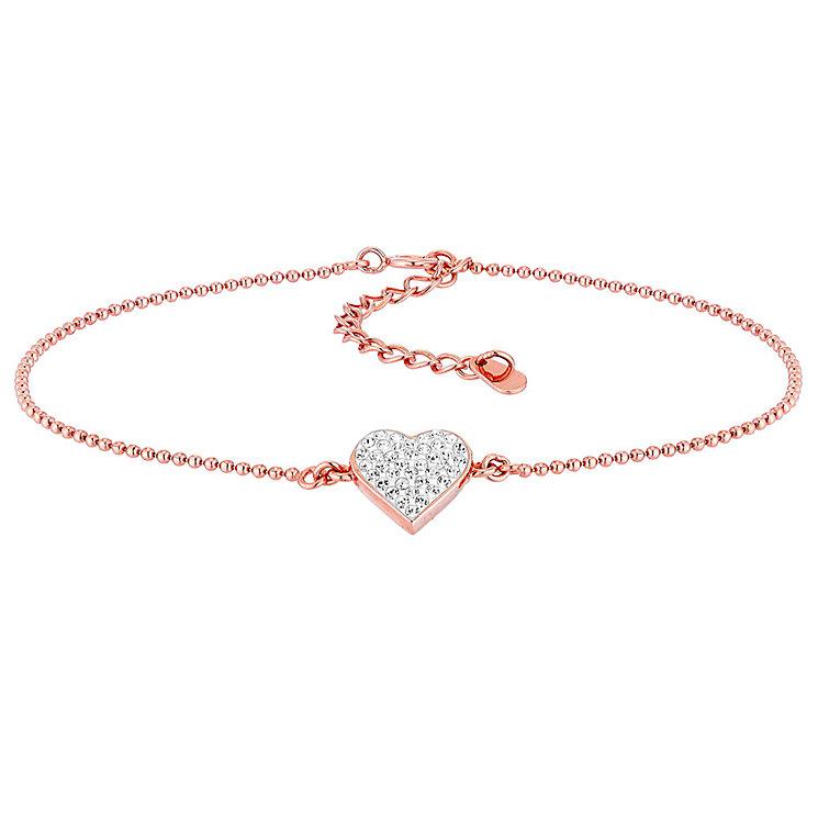 Evoke Silver Rose Gold-Plated Swarovski Crystal Bracelet - Product number 3732711