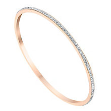 Evoke Rose Gold-Plated Swarovski Crystal Eternity Bangle - Product number 3732797