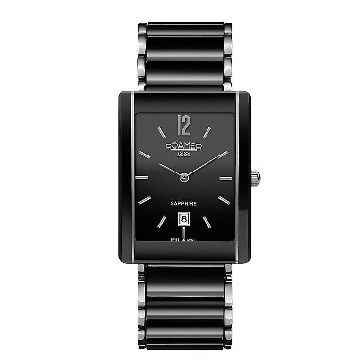 Roamer Ceraline Saphira Men's Square Bracelet Watch - Product number 3732819