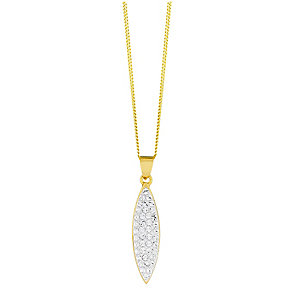 Evoke Gold-Plated Swarovski Crystal Oval Drop Pendant - Product number 3732932
