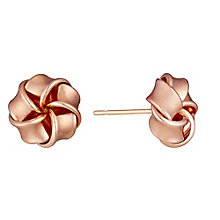 9ct Rose Gold Knot Stud Earrings - Product number 3733513