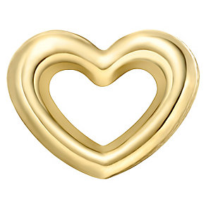 Your Story 9ct Gold Small Open Heart Charm - Product number 3733645