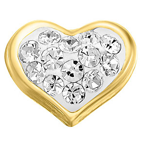 Your Story 9ct Gold Crystal Set Heart Charm - Product number 3733653